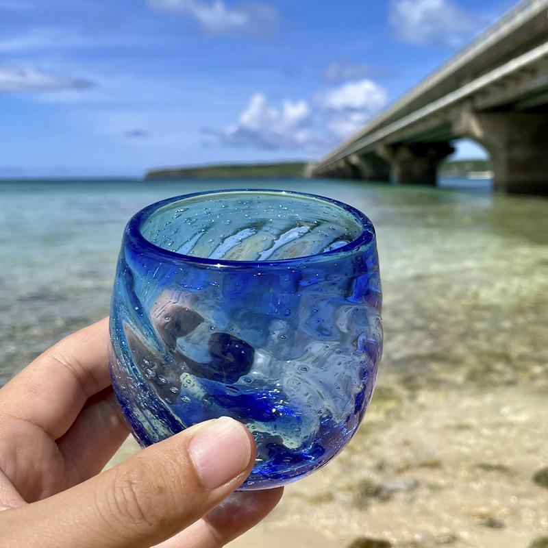 《送料無料》海色のタルグラス × 2個